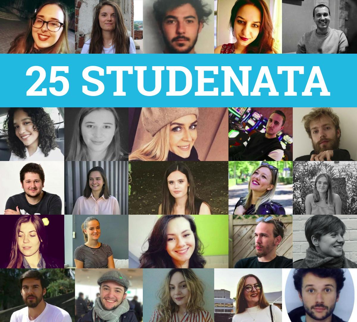 25 studenata