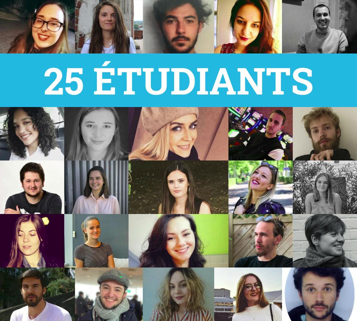 Les 25 participants au projet